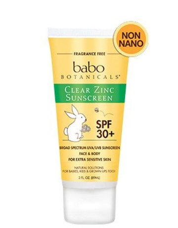 Babo Botanicals Babo Botanicals - SPF30 Clear Zinc Sunscreen - Unscented 3 oz