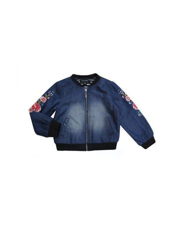 Blu & Blue Blu & Blue - Embroidered Bomber Jacket