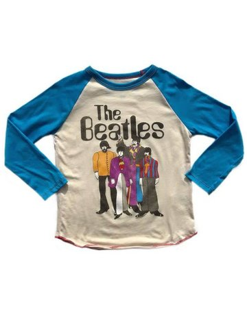 Rowdy Sprout Rowdy Sprout - Raglan Tee Beatles Cream/ Blue 12-18