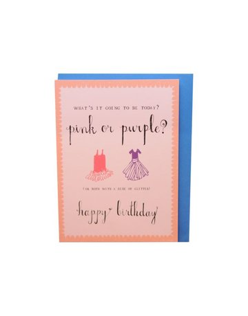 Mr. Boddington's Studio Mr. Boddington's Studio Individual Cards  Pink or Purple Birthday