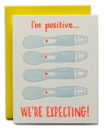 Ladyfingers Letterpress Ladyfingers Letterpress I'm Positive We're Expecting