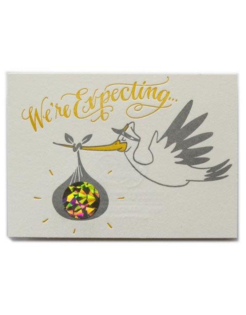 Ladyfingers Letterpress Ladyfingers Letterpress Scratch Off Stork (Girl)