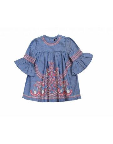 Blu & Blue Blu & Blue Everly Flare Sleeve Dress