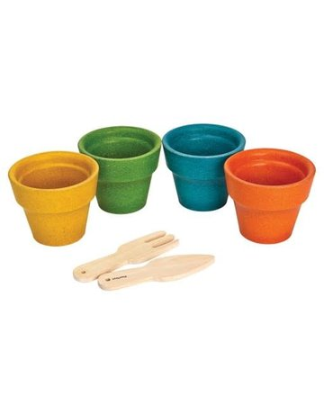 Plan Toys, Inc. Plan Toys Flower Pot Assorted Colors