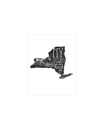 One Canoe Two - State Art Print New York
