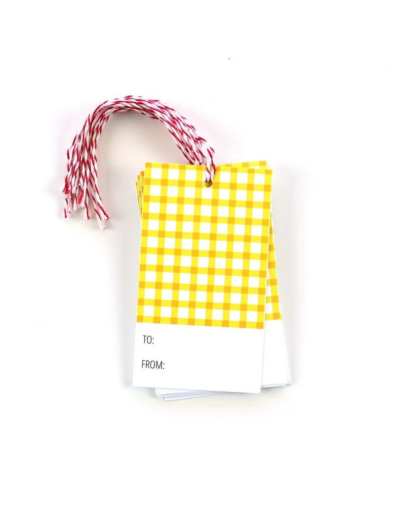Public School Paper - 12 gift tags