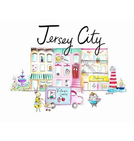 "Lady Lucas Art Lady Lucas Art Jersey City Illustration 11""x14"""
