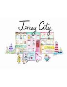 "Lady Lucas Art Jersey City Illustration 8""x10"""