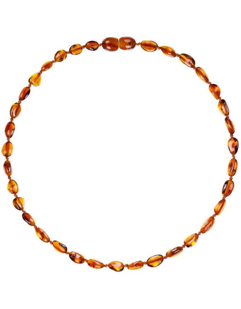 Powell's Owls Amber Baby Bean Necklace