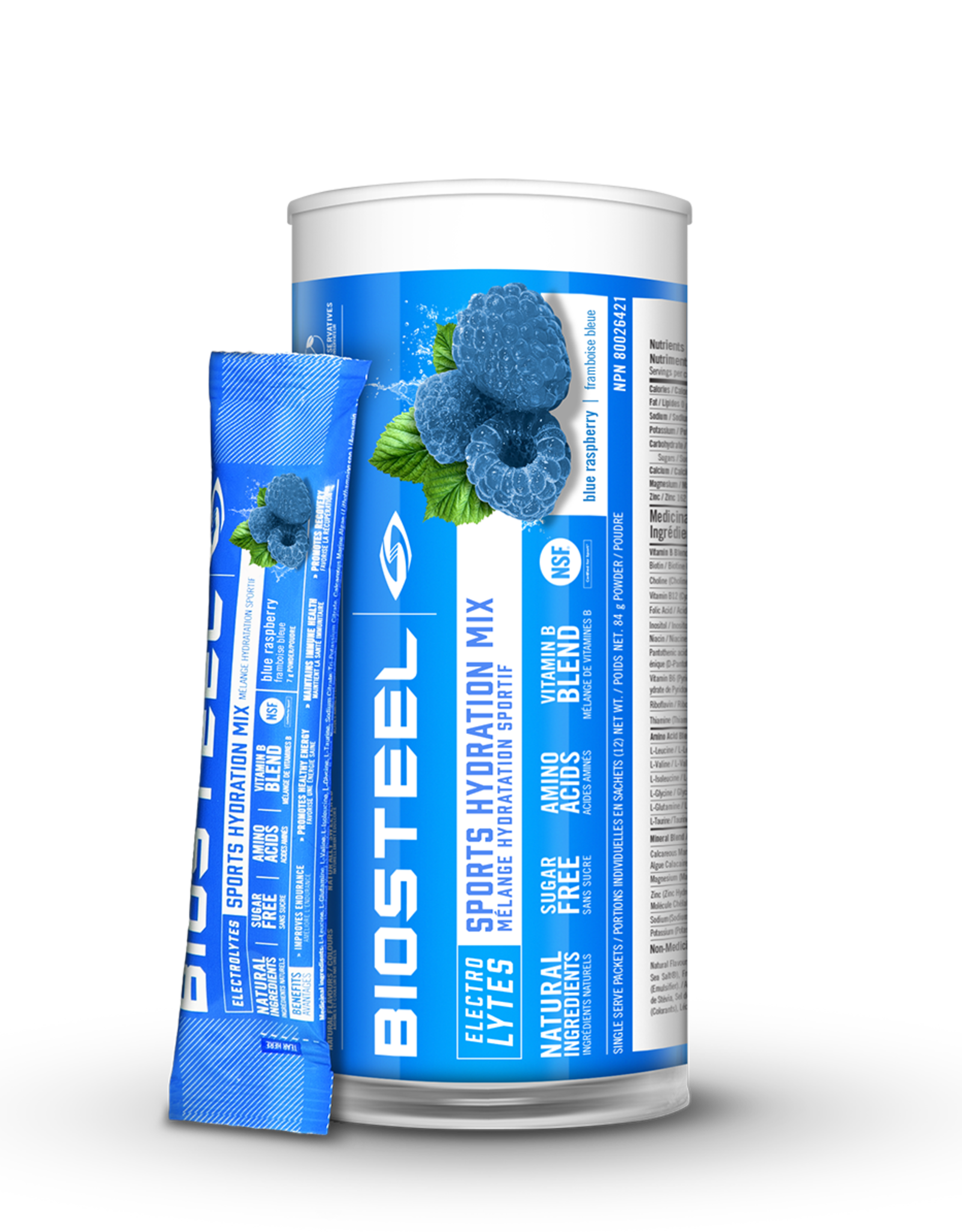BIOSTEEL SPORTS HYDRATION - BLUE RASBERRY - 12 PACK