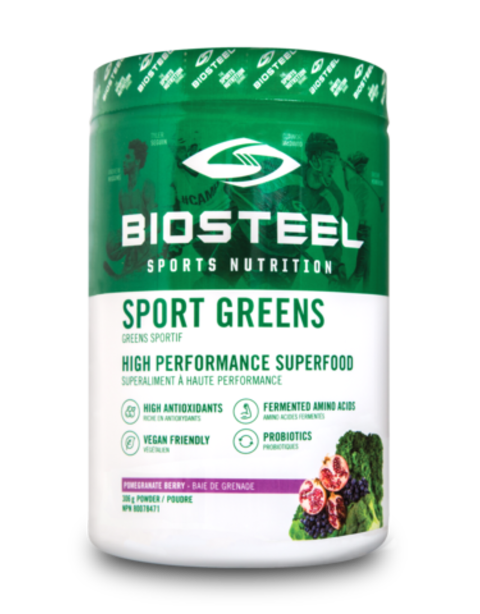 BIOSTEEL SPORTS GREEN HIGH PERFORMANCE SUPERFOOD-pomegrenate berry