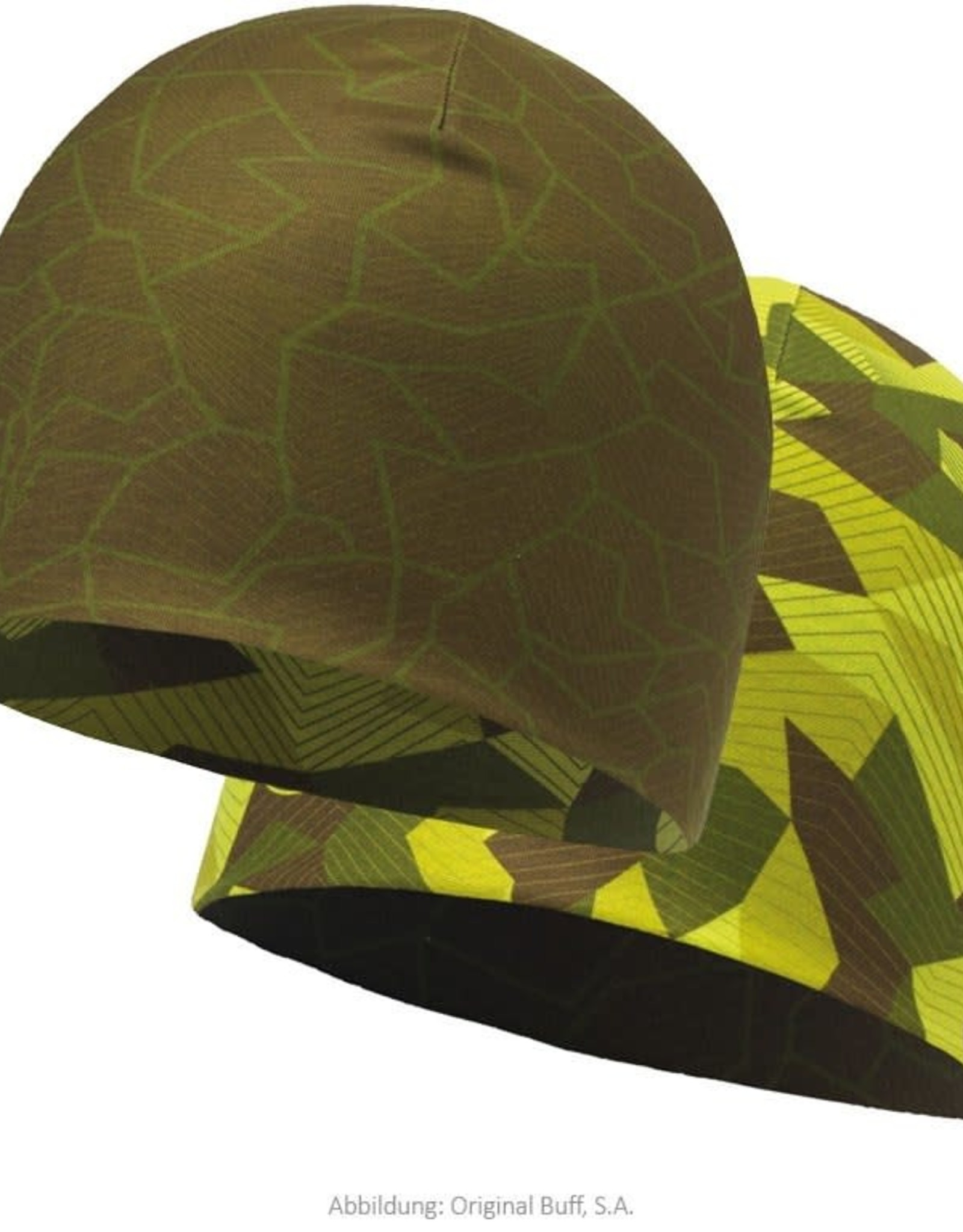 BUFF BUFF- MICROFIBER REVERS HAT-CAMO GREEN