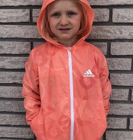 KIDS WINDBREAKER CORAL/WHITE