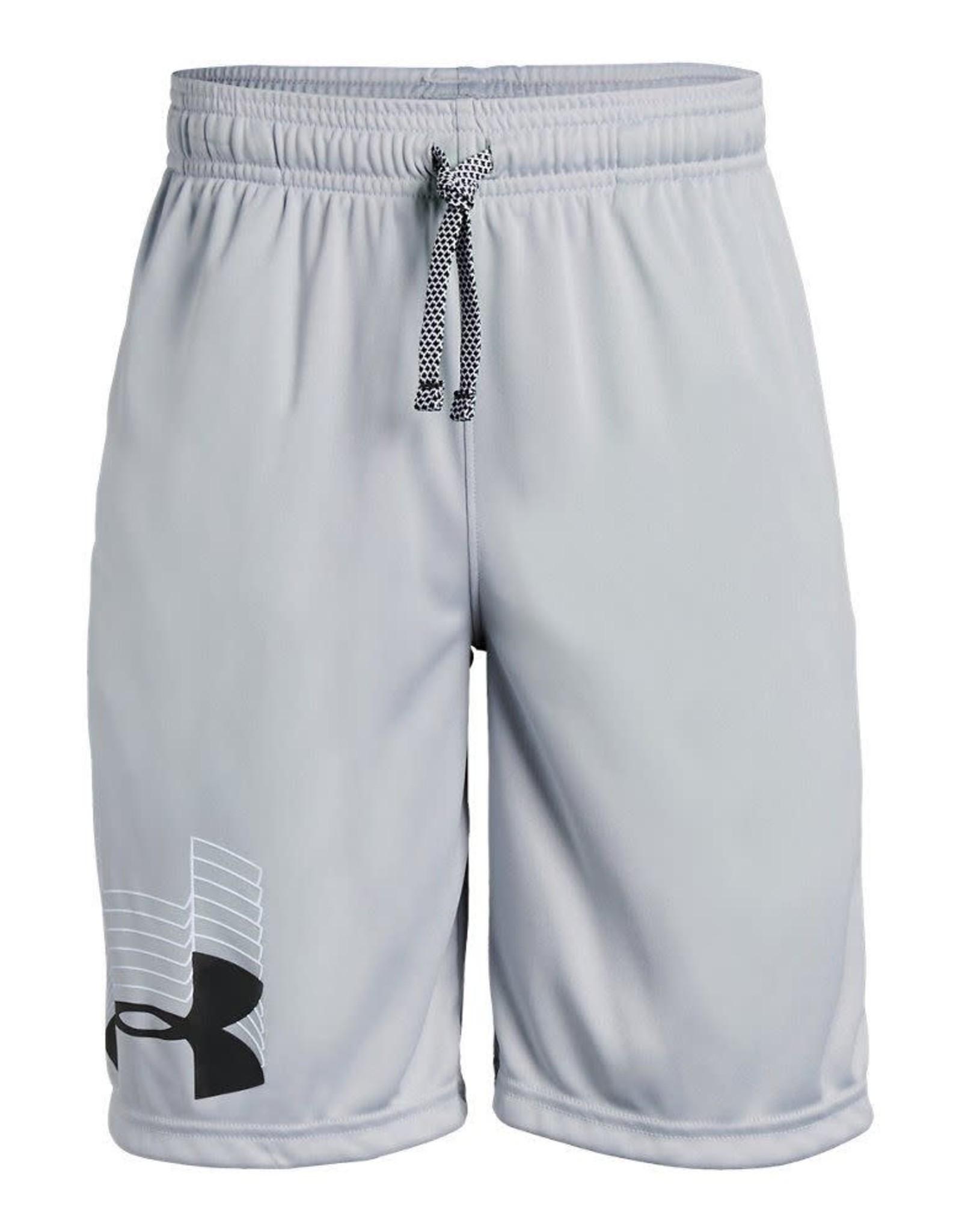 Boys UA Prototype Logo Shorts-GREY