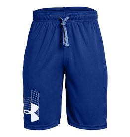 Boy UA Prototype Logo Shorts-BLUE