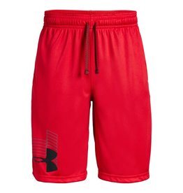 Boys UA Prototype Logo Shorts-RED