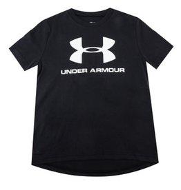 UA Sportstyle Logo Short Sleeve BLACK/WHITE