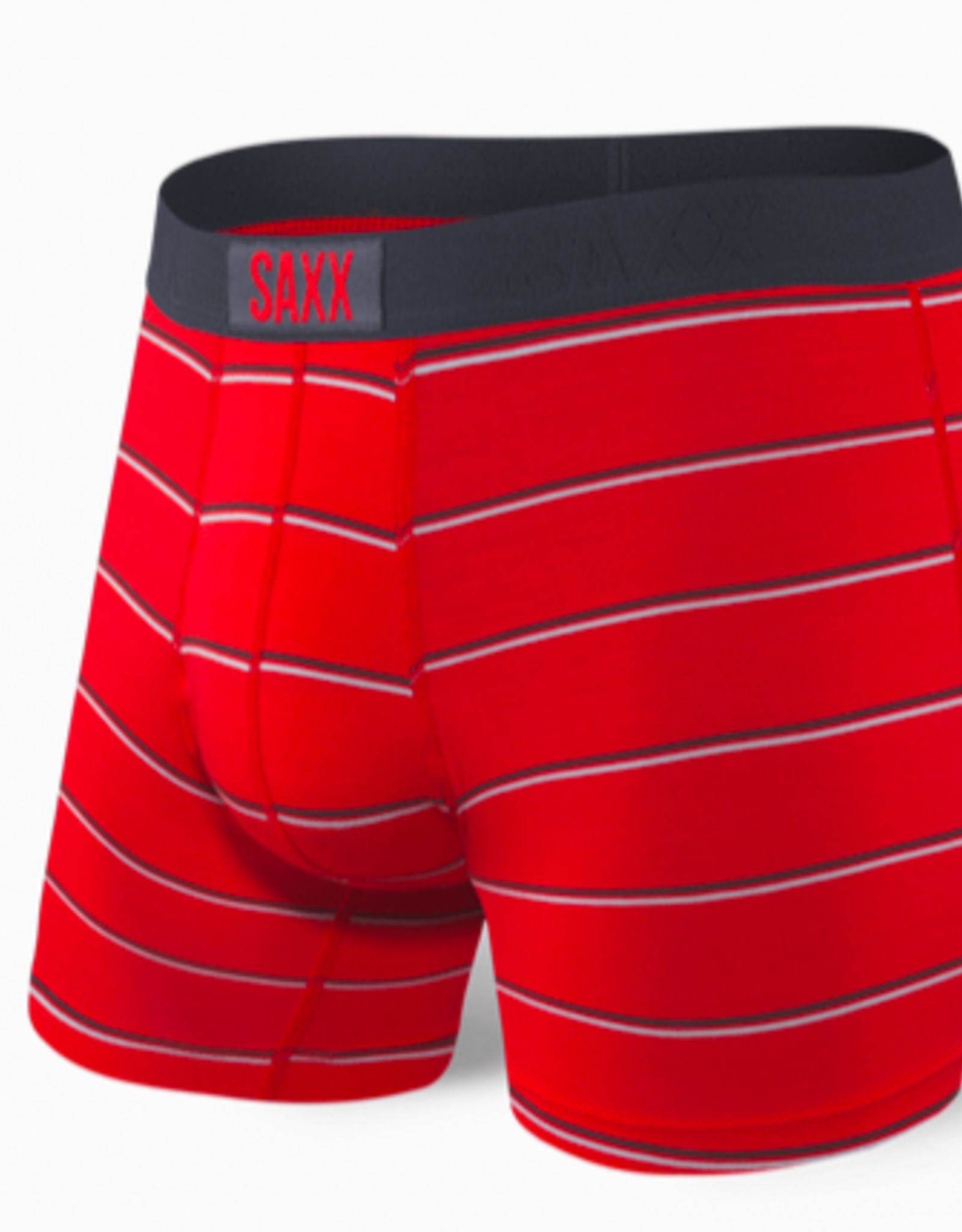 SAXX SAXX VIBE BOXER BRIEF RED SHALLOW STRIPE XL