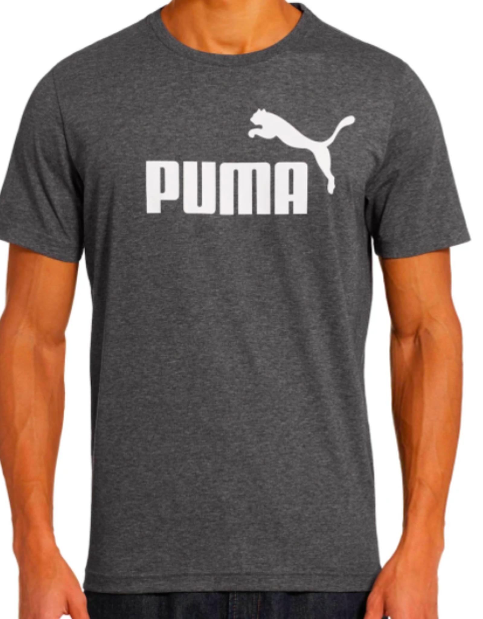 PUMA ESS NO.1 HEATHER TEE/COTTON BLACK-HEATHER