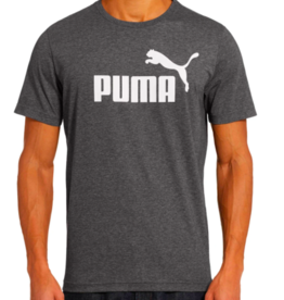 PUMA ESS NO.1 HEATHER TEE/COTTON BLACK-HEATHER