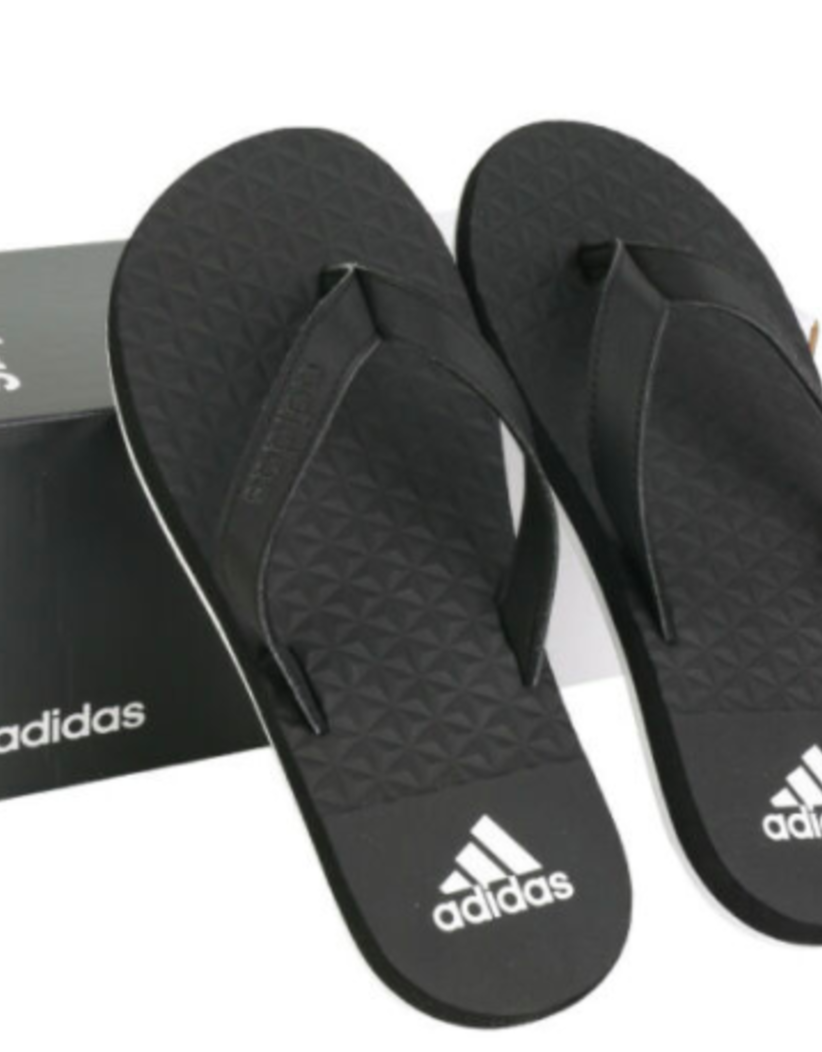 ADIDAS Men SANDALS EEZAY SOFT BLACK/WHITE