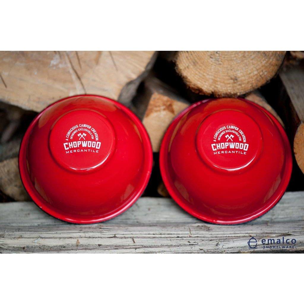 Chopwood Crested Butte Bear Enamel Bowl *ONSALE*