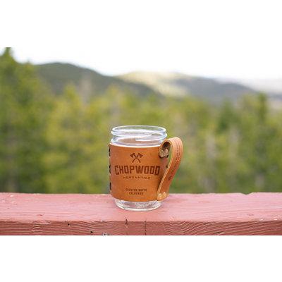 Chopwood Leather Mason Jar Sleeve