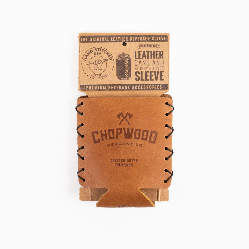 Chopwood Leather Can Sleeve