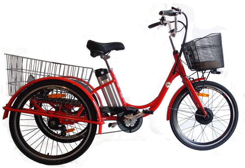 Belize E-trike rouge (prix hors montage et transport)