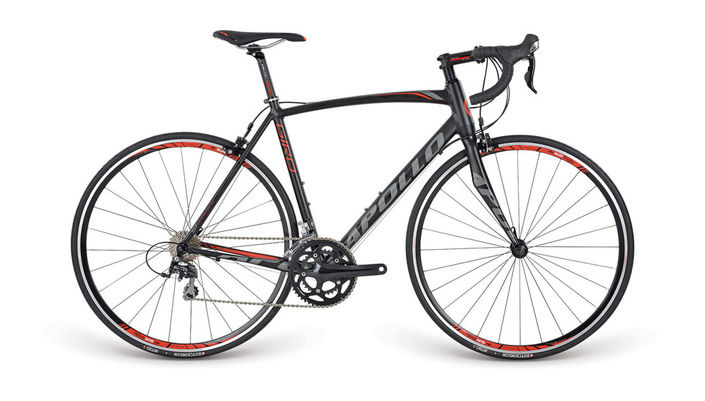 Apollo Giro Black/Red/Charcoal 105 53cm
