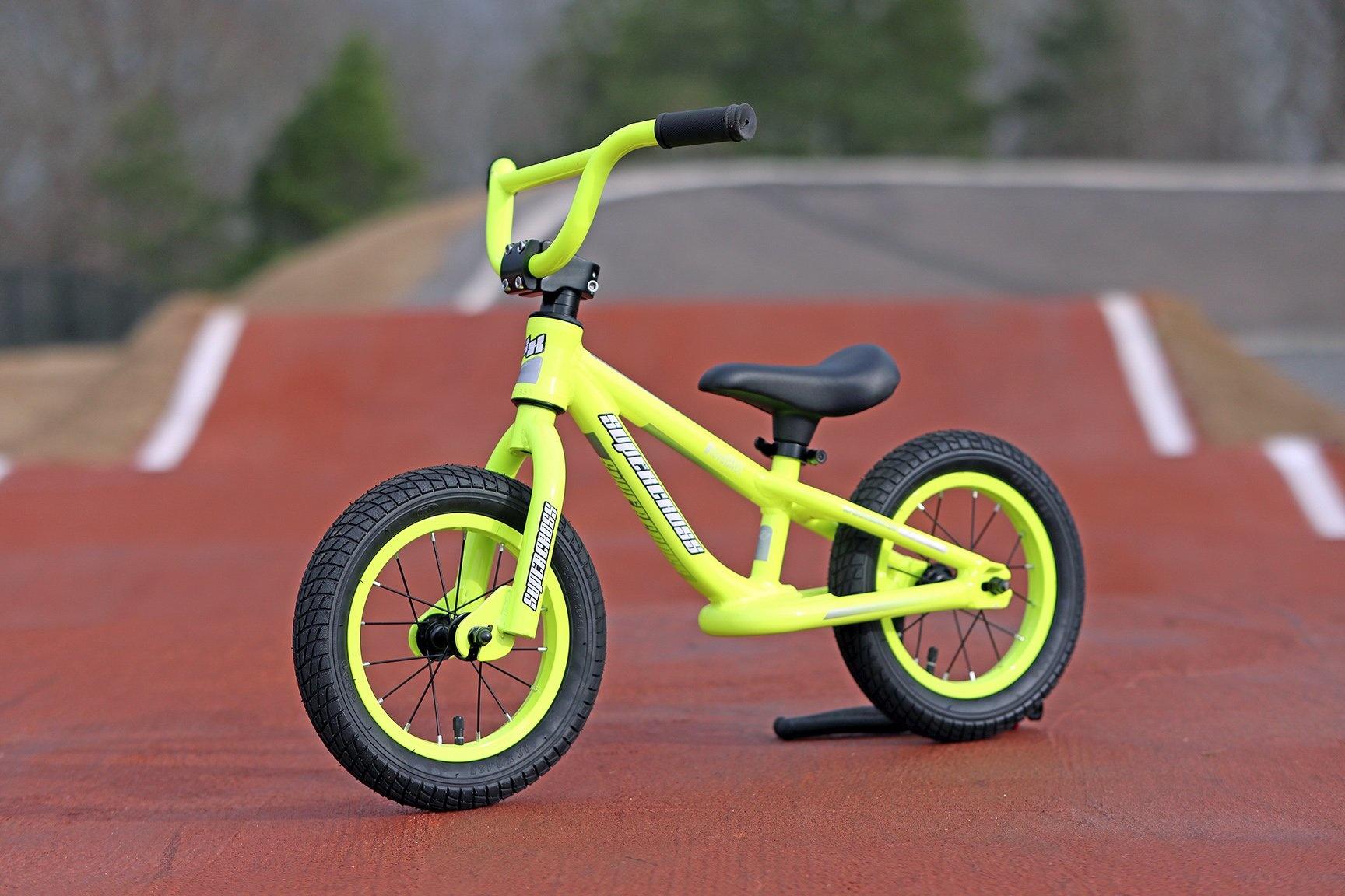 Supercross BMX Balance Bike Neon Yellow