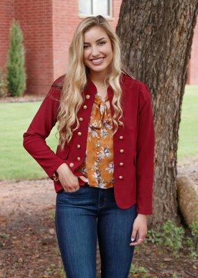Molly Bracken Gold Button Jacket