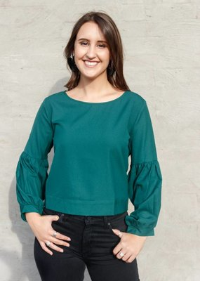 Molly Bracken Back Tie Long Sleeve Top