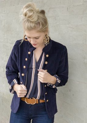 Molly Bracken Gold Button Jacket