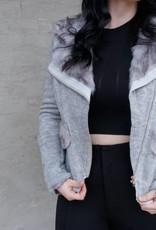 Molly Bracken Fur Trimmed Jacket