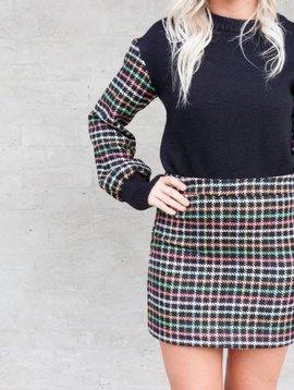 English Factory Plaid Skirt