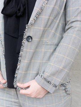 Molly Bracken Raw Edge Check Jacket