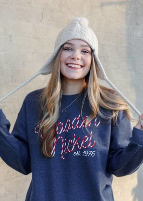 Buffalo Trading Co. Candycane Sweatshirt