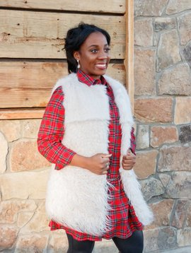Dylan by True Grit Plush & Fur Luxe Layer Vest