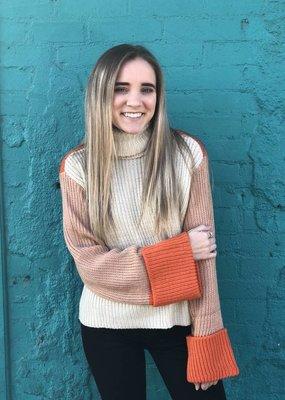 Mink Pink Block Color Sweater