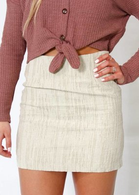 Mink Pink Textured Mini Skirt