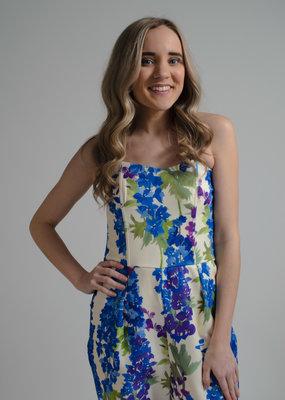 Molly Bracken Strapless Floral Jumpsuit