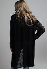 KW Fashion Corp. Sheer Cardigan Black