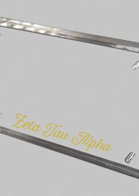 Over the Moon Zeta Tau Alpha Clear Acrylic Frame