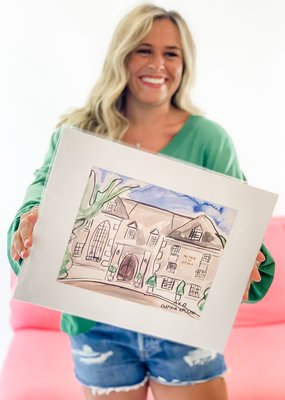 Over the Moon Alpha Chi Omega House Portrait