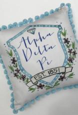 Over the Moon Alpha Delta Pi Pom Pillow