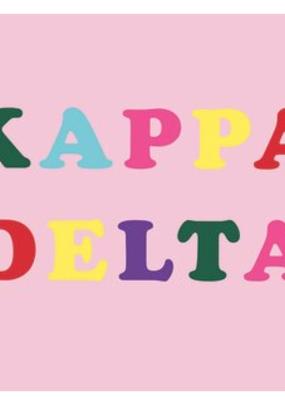 Over the Moon Kappa Delta Flag