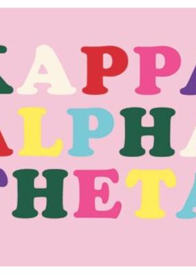 Over the Moon Kappa Alpha Theta Flag