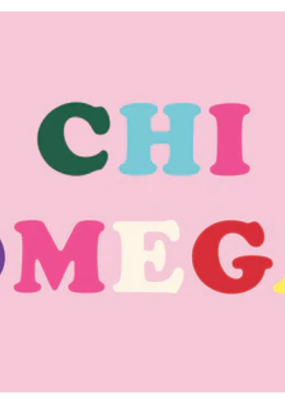 Over the Moon Chi Omega Flag