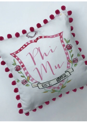 Over the Moon Phi Mu Pom Pillow